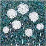 Wild Flowers at Night – SOLD