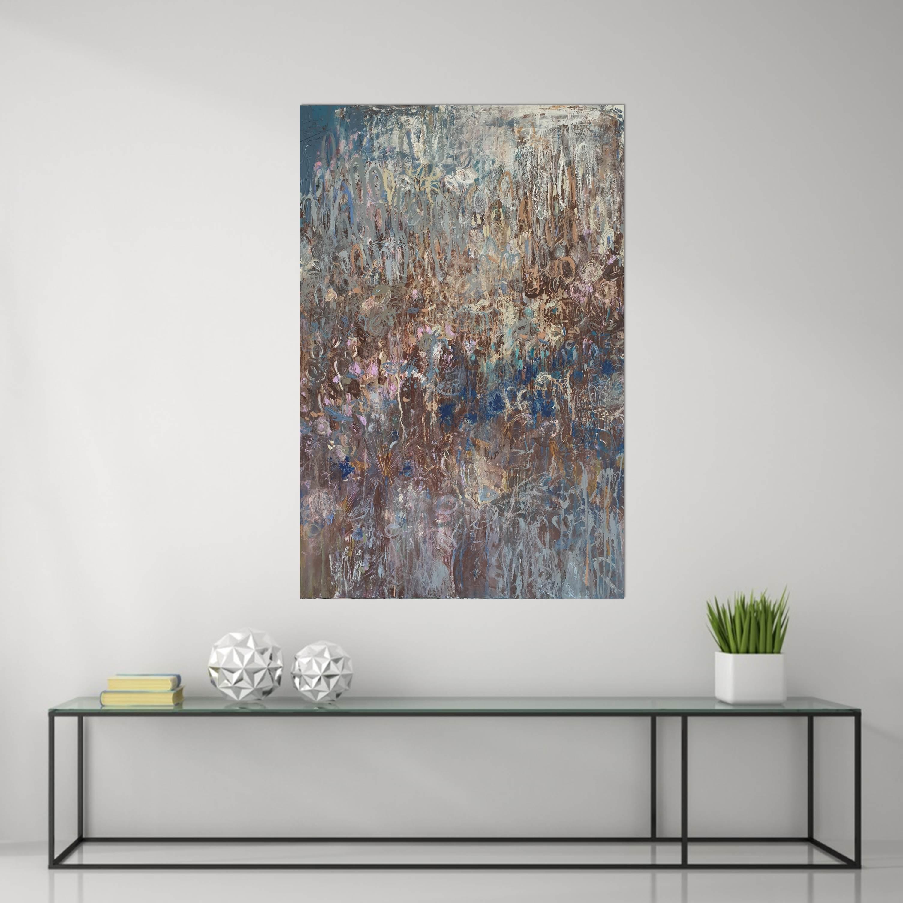 Ambrosia Blue Glass Table