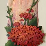 Red Ixora – 3D Sculpture painting