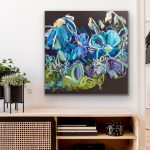 Blue Sunshine – Abstract Flowers