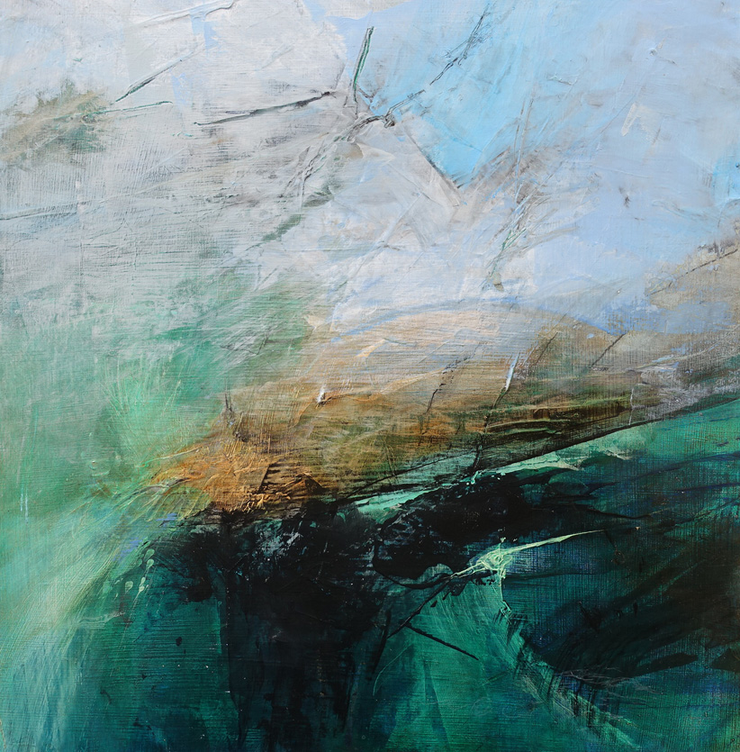 Dsc07133 Patriciawalshstudio Coastal Clarity Acrylic On Wood 30x30x2@.06kg