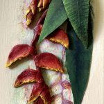 Heliconia Panel – 3D Sculpture painting