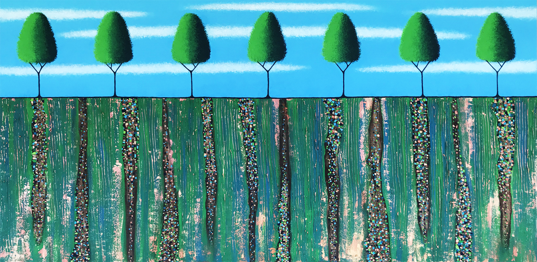 Trees Of Spring Front On V2