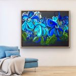 Wild Blue – Abstract Flowers