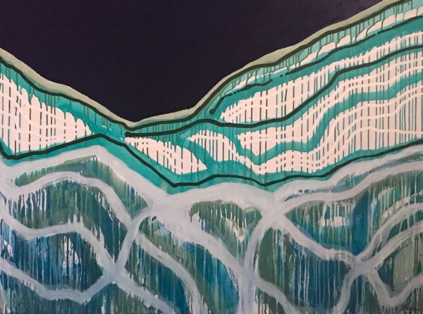 Yvette Swan, Closer Than Your Own Breath, H92xw122cm, Mixed Media On Canvas, $3700