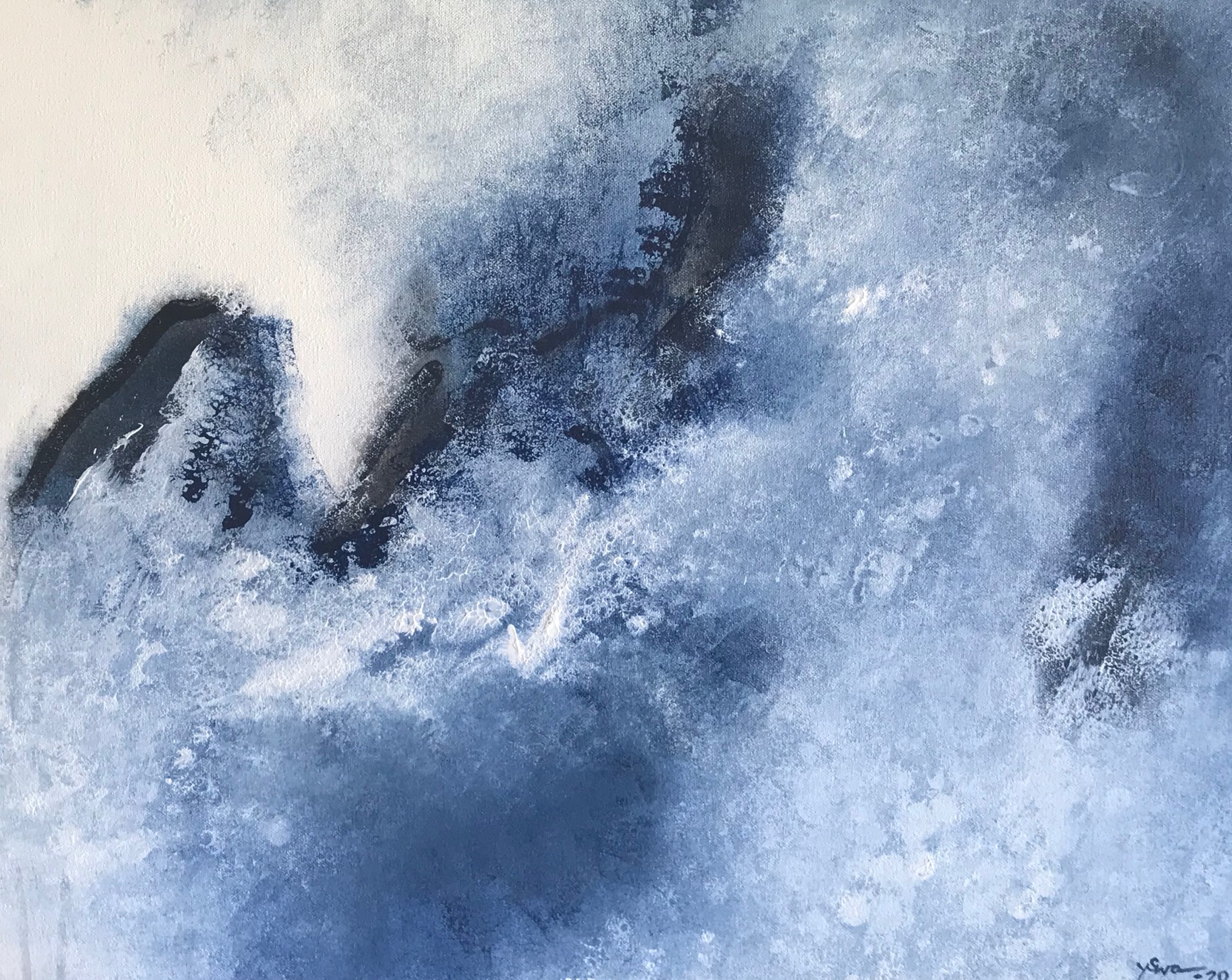Yvette Swan, Sounds Of Night, H41xw51cm, Synthetic Polymer On Canvas, $900