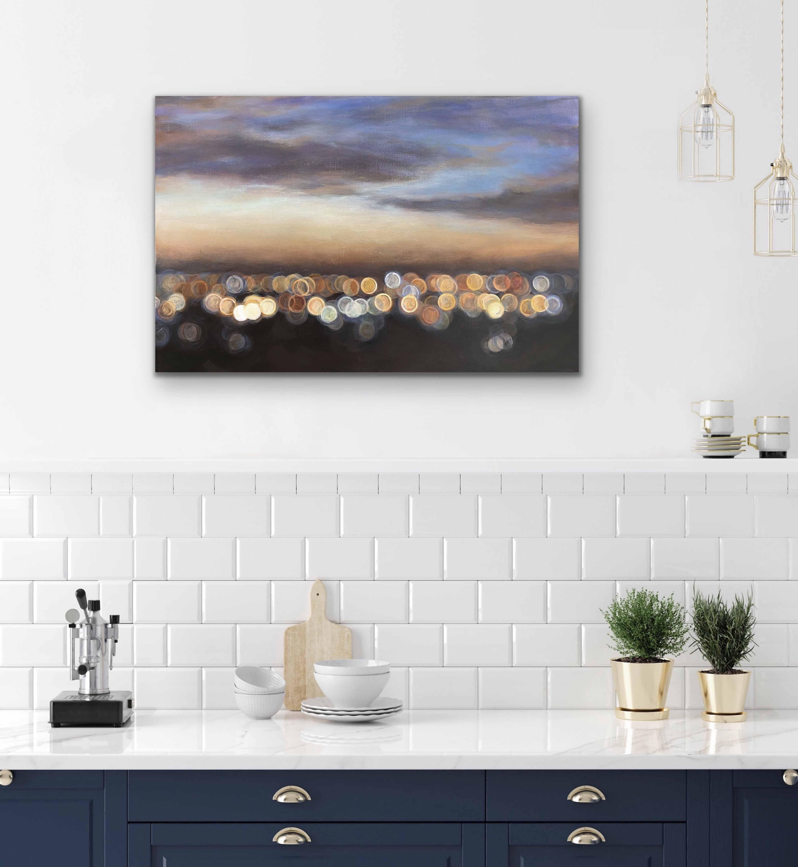Bokeh 3 Blur Acrylic Urban Twlight Felicia Lowe C