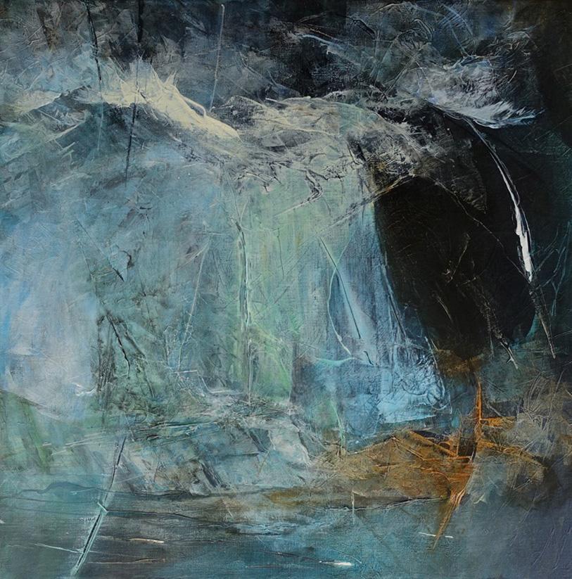 Patriciawalshstudio Beyond Byron Acrylic On Canvas 60x 60×3.5cm