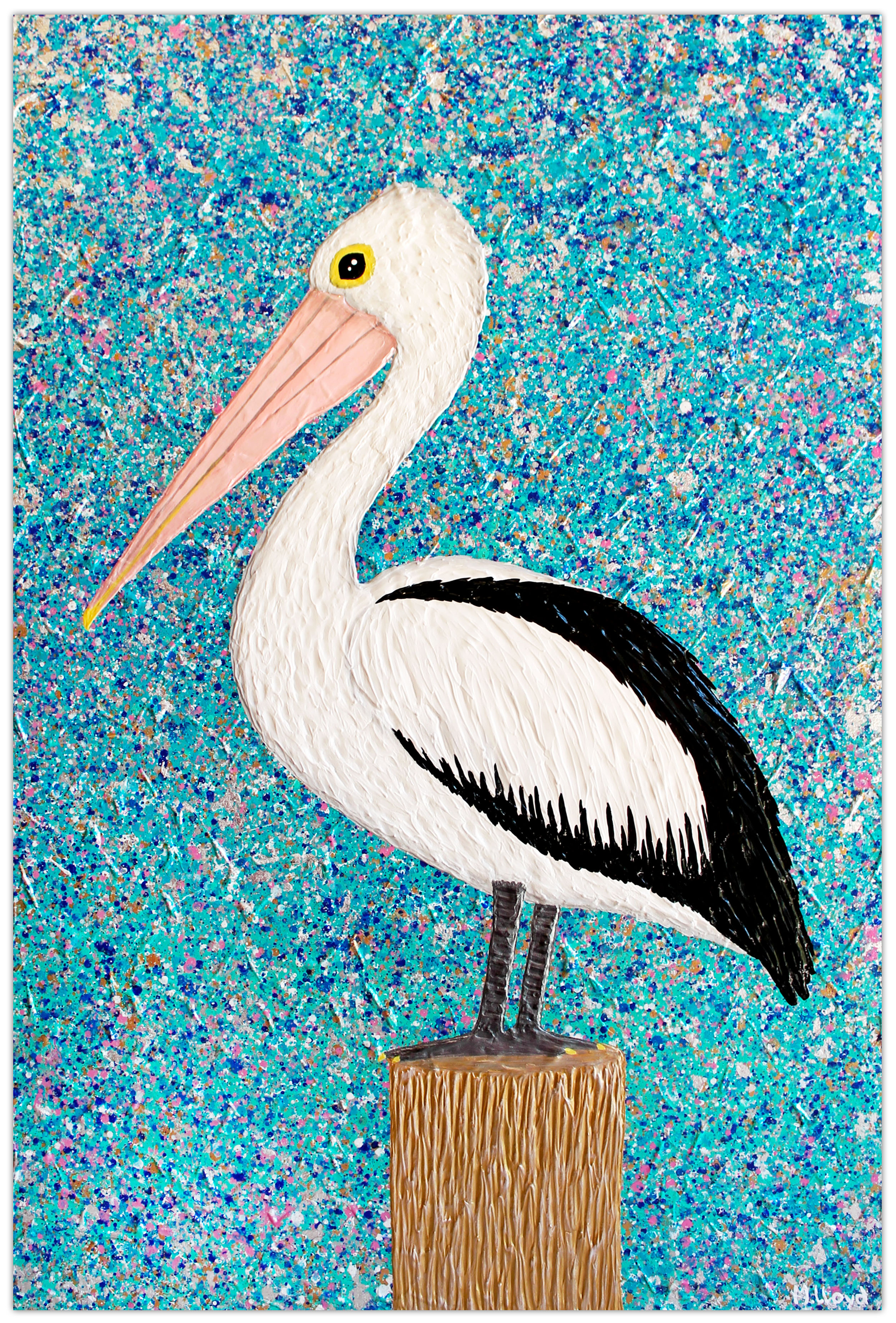 Pelican Mr Percival Australian Birds Artist Australia