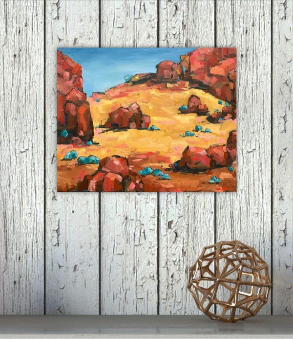 Australian Landscape Gold Eve Sellars 3