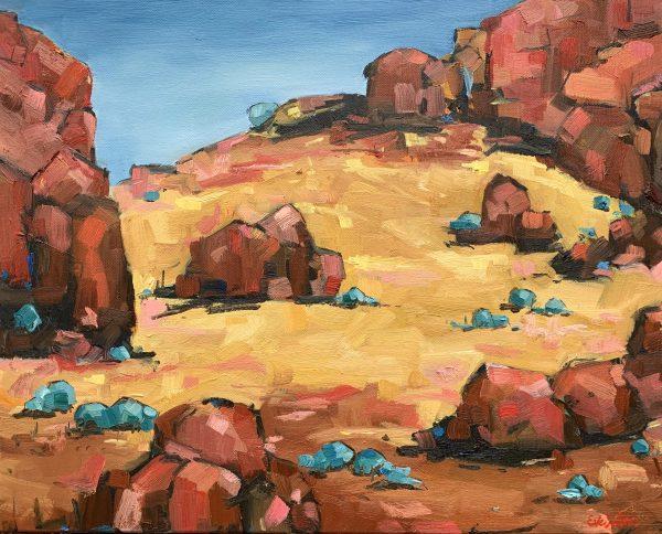 Australian Landscape Gold Eve Sellars 4