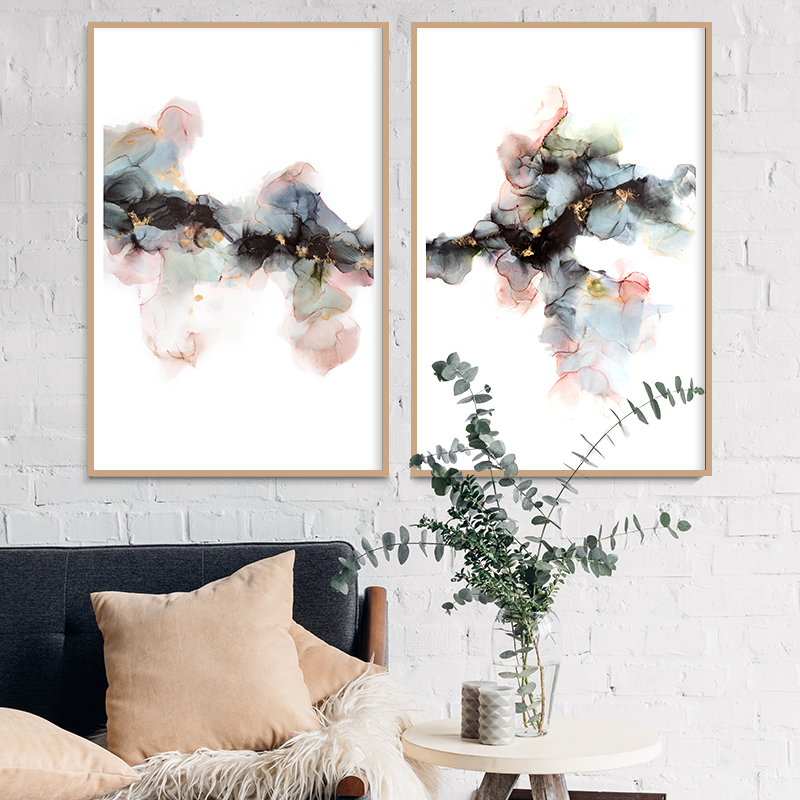 Cant Be Broken Diptych Insitu Fern Siebler Art Lovers Australia Seven House Rules
