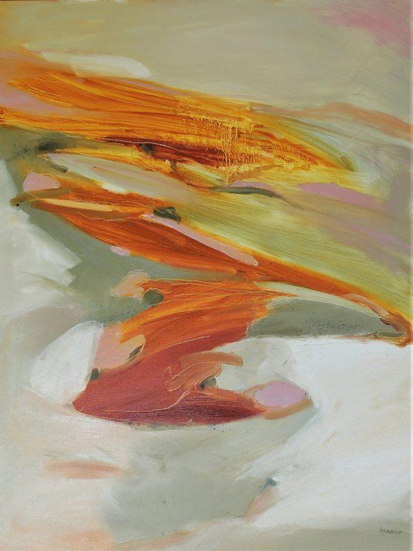 Heidi Savage Ochre Cliffs Oil On Canvas 93x123 Cm