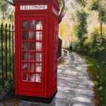 The old red phone booth