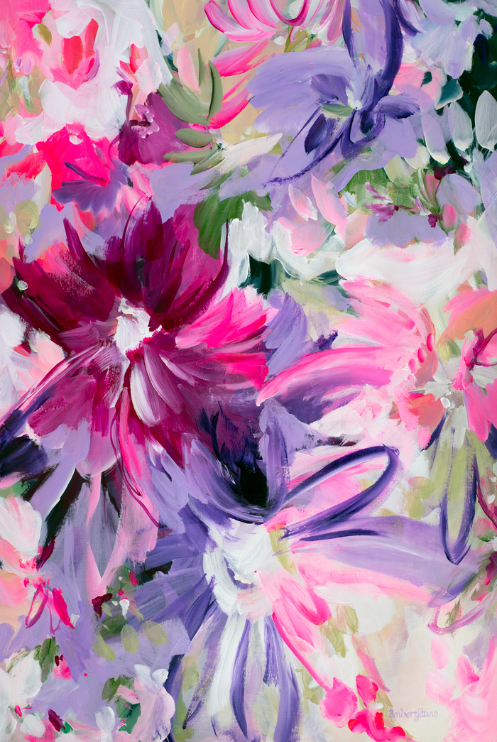 Pink Blooms By Amber Gittins