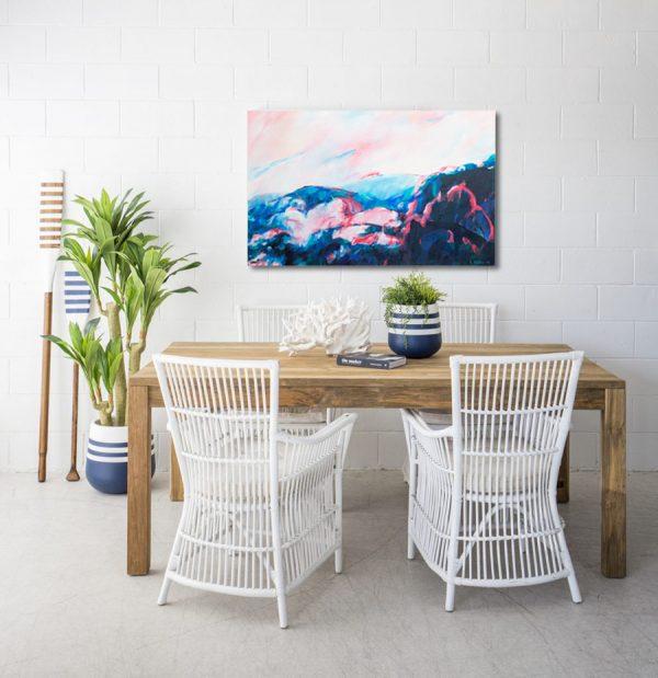 Rachel Prince Light On The Water 03 122cm X 76cm Acrylic On Canvas $1380 Ocean Series 2019 In Situ 1