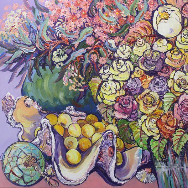 Roses And Magnolias No.1 Megan Barrass Sm