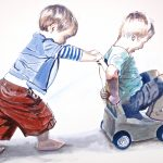Boys and Cart