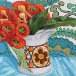 Retro Daisy and the Orange Gum Blossom