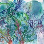 Seahorse undersea fantasy