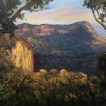 Last light on Narrow Neck, Blue Mountains
