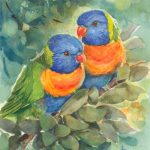 A Happy Pair of Rainbow Lorikeets