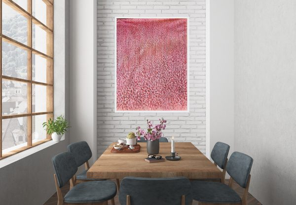 Artist Leni Kae Find Me In A Field Of Peonies Lounge Dining2 Interior Design