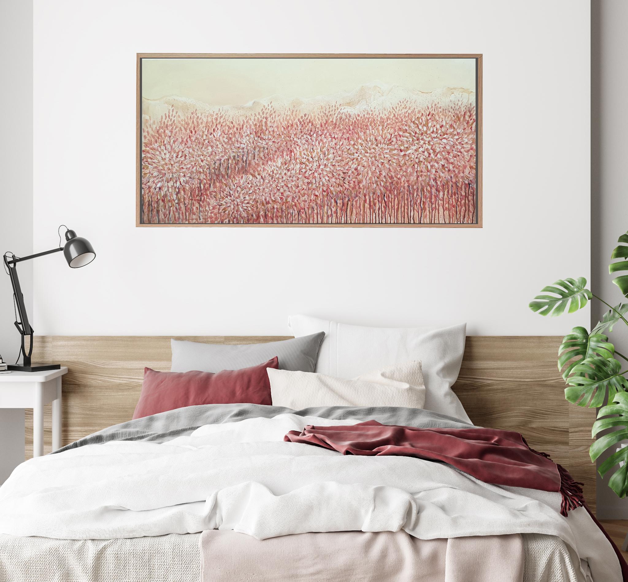 Artist Leni Kae Zoom Bedroom Interior Design Art Autumn Colours Calling Abstract Landscape
