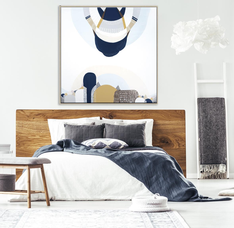 White Bed In Bedroom Interior