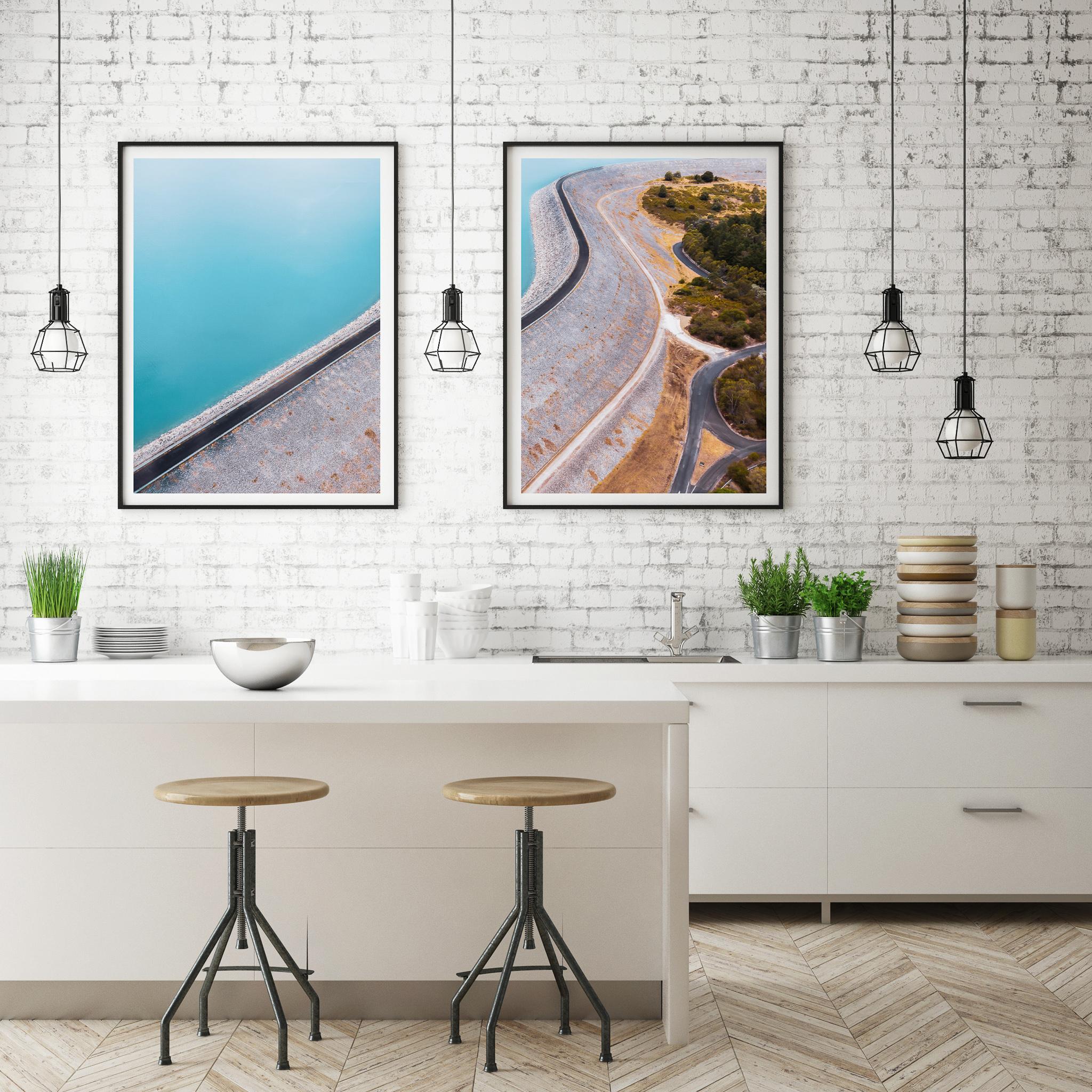 Mock Up Poster Frame In Kitchen Interior Background, Scandinavia