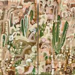 Cacti Sands 1 and 2 Diptych