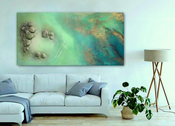 Large Ocean Painting For Sale Artist Petra Meikle De Vlas2