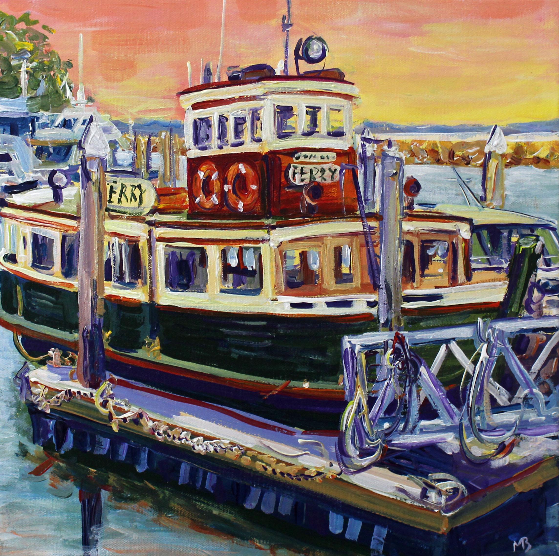Local Ferry On The Wharf Sm Megan Barrass