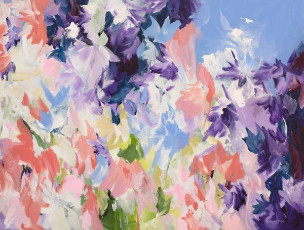 Lost In Paradise Abstract Painting Amber Gittins