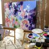 Lost In Paradise Abstract Painting Amber Gittins Studio Shot