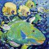 Parrot Fish 30x30cm Megan Barrass Sm