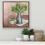 Pewter Jug – framed oil painting