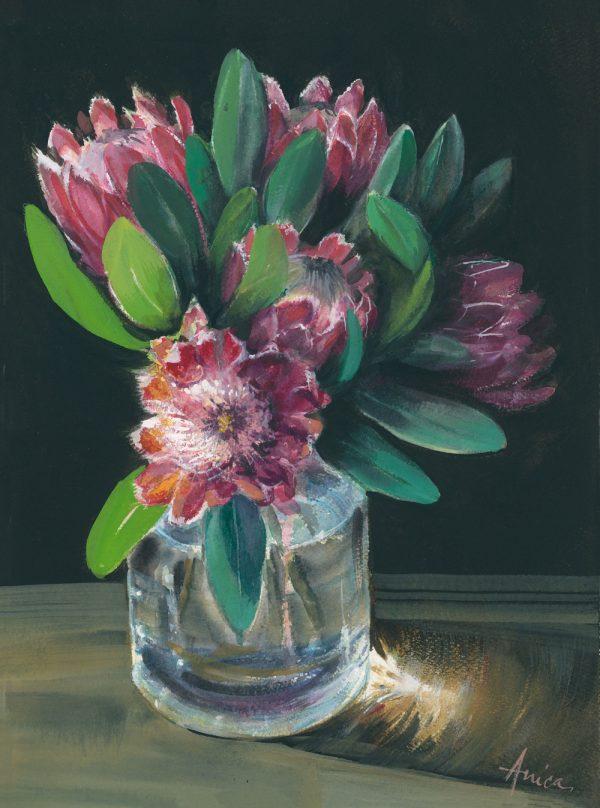 Sunlit Proteas Al