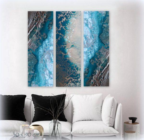 Teal Reef Snibits 3 Canvas Art Prints For Sale By Petra Meikle De Vlas6
