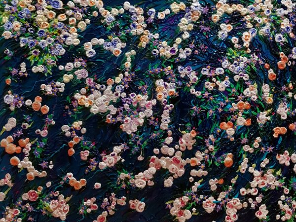 Floating Flowers In Pond