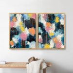 Rainbows + Sunshowers (Set of 2) Framed