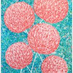 Flowers Pink Abstract Textures – SOLD