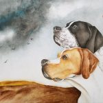 English Pointer Dog Brothers Together