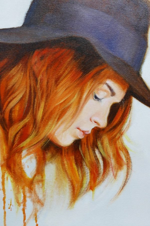 36x32 Oil On Canvas Girl In A Hat Crop 4 Sm
