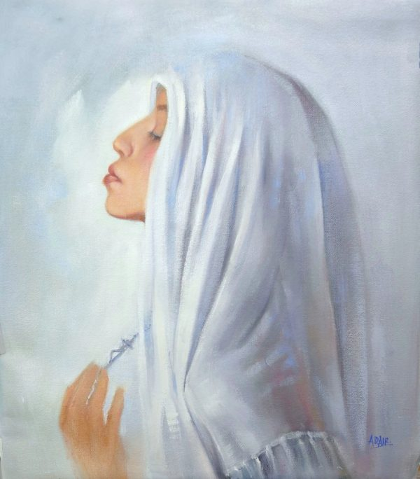 39x34 Oil On Canvas Our Lady Help Of Christians Sm 2