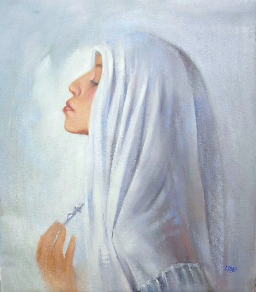 39×34 Oil On Canvas Our Lady Help Of Christians Sm 2