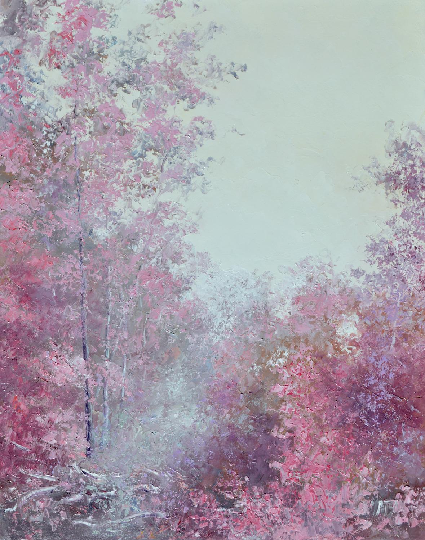 Autumn Pink Landscape In Pink By Jan Matson
