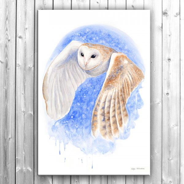 Barnowlsilentflight Canvas Thumb