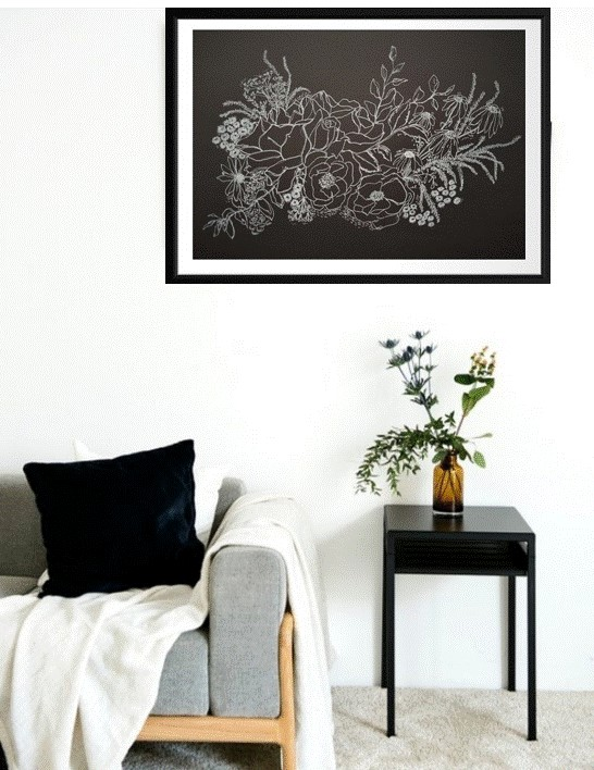 Black & Whiite Painting In Room (2)