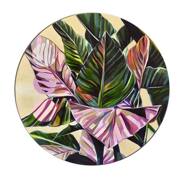 Blush Banana Leaf Porthole 600x586
